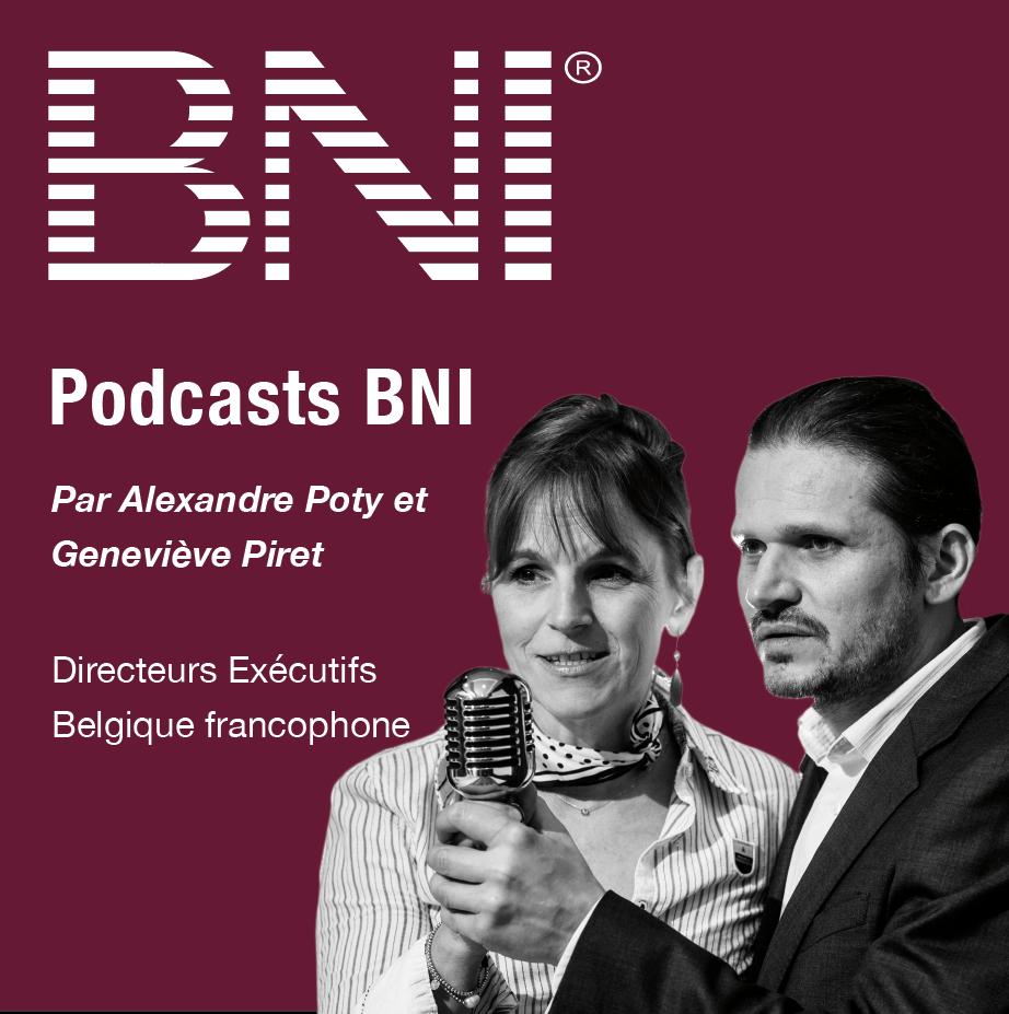 Logo podcasts AlexGene, BNI Belgique francophone