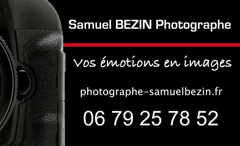 SamuelBEZINPhotographe Logo Coordonneges